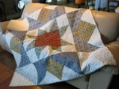 """My One Block Quilt. A 68"""" star from Morris Modernized."""