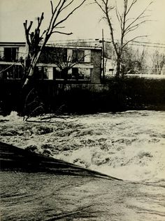 "Spectrum Green yearbook, 1975. ""The Rain fell, so did Millview."" :: Ohio University Archives"