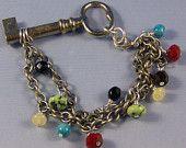 vintage key bracelet