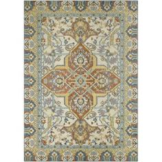 Bilson Blue/Orange Area Rug