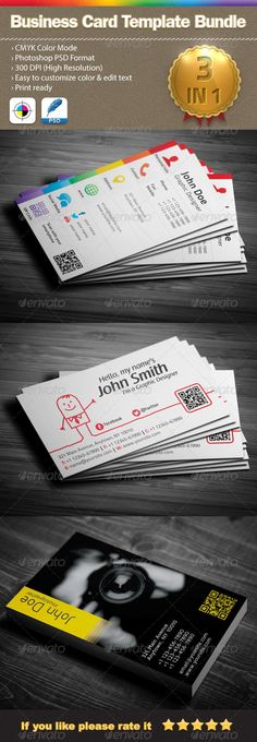3 in 1 Business Card Template Bundle