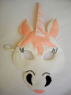 Children's UNICORN Fantasy Fairy Princess Felt Mask by magicalattic on Etsy Party Unicorn, Unicorn Mask, Unicorn Costume, Sewing For Kids, Diy For Kids, Crafts For Kids, Animal Masks For Kids, Mask For Kids, Unicorn Fantasy