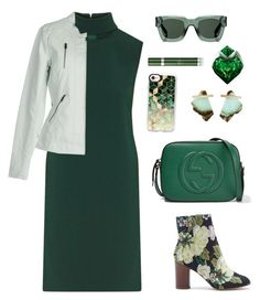 """""""Untitled #2202"""" by ebramos ❤ liked on Polyvore featuring Theory, Gucci, Sole Society, Casetify, Kathleen Whitaker, ONLY, Givenchy, Thierry Mugler and RéVive"""