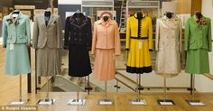 Power dressing: Seven suits worm by the Iron Lady during the 1970s in the early part of her career were auctioned at Christie's on Monday