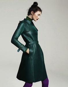 TRENCH COAT, EDITORIAL, FASHION PHOTOGRAPHY, MILITARY JACKET, GREEN COAT