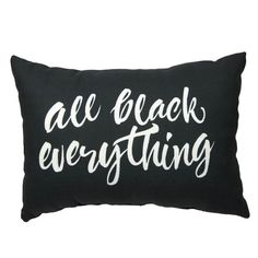 All Black Everything Pillow– Dormify
