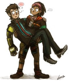 Tales from Borderlands - Rhys and Sasha -  The dorks by chameshida