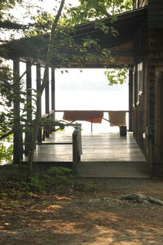 There's something about a porch at the lake cabin......