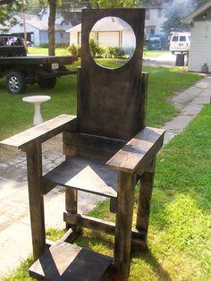 DIY Electric Chair  #Halloween decorations yard props decor