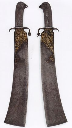 """Persian (Safavid) executioner's cleaver, owned by the master Aziz the """"butcher"""", dated: 1176/1761."""