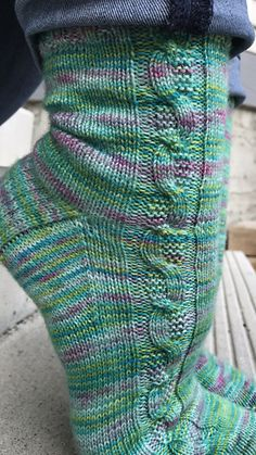 Ravelry: Curious Cable Socks pattern by Two Birds Knitting Co. Ravelry: Curious Cable Socks pattern by Two Birds Knitting Co. Cable Knit Socks, Cable Knitting, Crochet Socks, Knitting Socks, Vogue Knitting, Hand Knitting, Knitting Patterns, Knit Crochet, Crochet Patterns