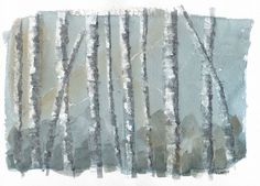 A calm abstract grove of birch trees by EngelhardtDesigns on Etsy