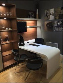 This Desk Made Of Corian® Sets The Mood For Productivity. Via Leicht  Contracts