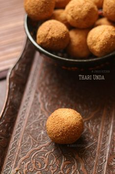 Thari Unda - a typical Kerala snacks recipe that is made with semolina, egg, and milk. Egg Recipes, Snack Recipes, Easy Snacks, Snacks Ideas, Oil For Deep Frying, Kerala Food, Tea Time Snacks, Cardamom Powder, Food Advertising