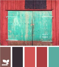 Red and turquoise hue