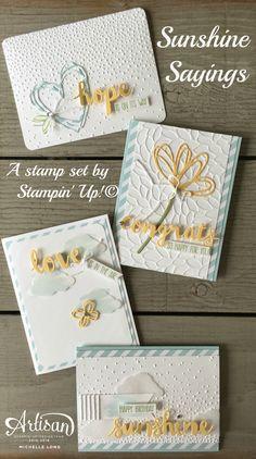 Sunshine Sayings, Softly Falling Embossing folder- Stampin' Up!