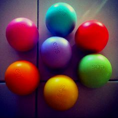 All the eos chapstick. Cute and smooth!