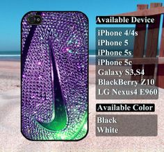 Glitter nike case  iPhone 4/4s iPhone5 iPhone5s by vallenshop, $13.50