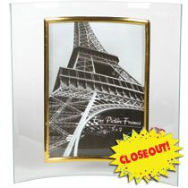 bulk curved glass photo frames with metallic accents 5x7 at dollartreecom