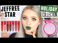 HONEST REVIEW- JEFFREE STAR HOLIDAY COLLECTION + HIGHLIGHT! GREEN LIPSTICK?! | Sophdoesnails