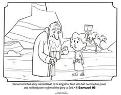 Samuel Anointing David King coloring page Coloring Pages