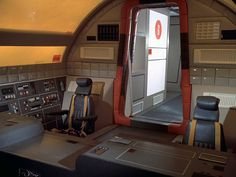 Interior shot of the Eagle spacecraft from Space:1999