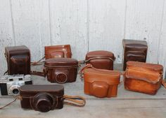 Vintage Leather Camera Cases