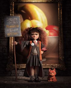 "#hermione #harry #potter Personal work done after an amazing concept by Cory Loftis! The cool thing about it was the painting creation process. I'm not a good painter, so I made a 3d version of it and tweaked on Photoshop to looks like a painting. So, it's like 2 works in one! heh! =)Done with 3ds Max, V-ray, Ornatrix and P""It's S-P-E-W. Stands for the Society for the Promotion of Elvish Welfare."" (x)"