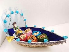 Super Fruit Basket Packing For Wedding 65 Ideas : Super Fruit Basket Packing For Wedding 65 Ideas Thali Decoration Ideas, Diwali Decorations, Basket Decoration, Decor Ideas, Wedding Gift Baskets, Wedding Gift Wrapping, Diwali Diy, Diwali Gifts, Trousseau Packing
