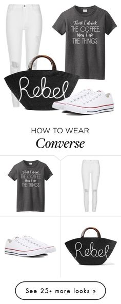 """Rebel Tote"" by neko4life on Polyvore featuring River Island, Eugenia Kim and Converse"