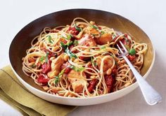 Capellini with Pine Nuts, Sun-Dried Tomatoes, and Chicken http://www.prevention.com/weight-loss/flat-belly-diet/flat-belly-diet-recipes-healthy-chicken-dinner-recipes/capellini-with-pine-nuts-sun-dried-tomatoes-and-chicken
