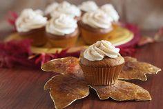 Cupcake Recipes : Pumpkin Cupcakes with Brown Sugar Cream Cheese Frosting