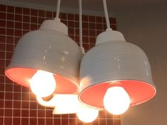 Find out how to make an eye-catching DIY pendant light with tea cups!.....