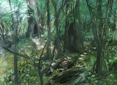 oil painting on Pike Island hiking trail 2016 by Toby Mikle