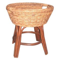 Rattan Accent Basket Table.