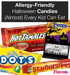 Halloween doesn't have to be a bummer for kids with food allergies. Whether you're buying for your child's class party, trick-or-treaters, or your own little monsters, pick up a bag of one of these sweets.