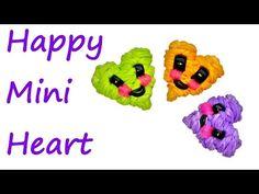 Happy Mini Heart Tutorial by feelinspiffy (Rainbow Loom) - YouTube