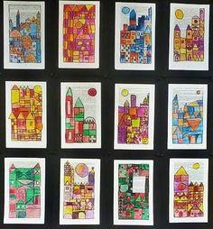 Art Auction Projects, Art Projects, Paul Klee Art, Graffiti, 4th Grade Art, Watercolor Projects, Ecole Art, Fantasy Kunst, Anime Kunst