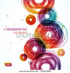 Abstract background with geometric elements. Vector illustration for your business presentation