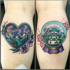 China tattoo snowglobe