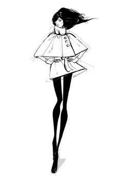 Fashion Illustration Black Amp White Fashion Drawing Of