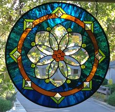 Round Stained Glass Panel - Delphi Artist Gallery