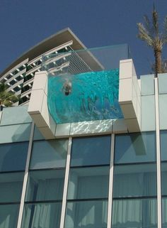 Awesome Pool...protrudes from a high rise rooftop. Not for those with acrophobia or vertigo!