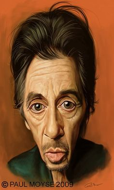 Caricatura de Al Pacino.