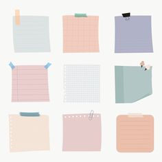 Memo Template, Notes Template, Colorful Notes, Memo Notepad, Note Doodles, Pastel Paper, Notes Design, Good Notes, Journal Stickers