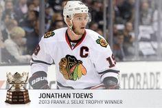 JT:  2013 Selke Trophy Winner