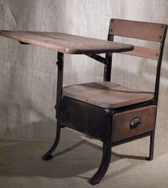 2 Antique Old School House Desk And Chair Vintage Awesomeness Pinterest Desks