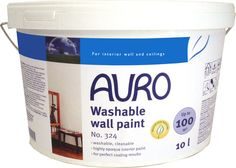 Natural and washable wall paint by Auro Paint. Auro 324 Natural Wall Paint is a great choice to use as a natural kitchen wall paint, or a high traffic eco friendly and non toxic paint around the home.