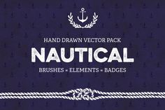 Nautical Vector Pack by SoNiceDesign on Etsy https://www.etsy.com/listing/237616258/nautical-vector-pack