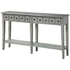 Newcastle 2-Drawer Console in Antique White